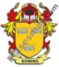 Escudo del apellido Koning
