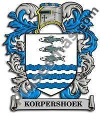Escudo del apellido Korpershoek