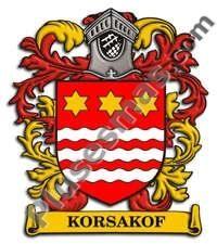 Escudo del apellido Korsakof