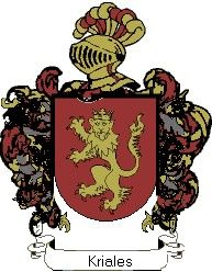 Escudo del apellido Kriales