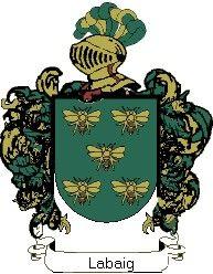 Escudo del apellido Labaig