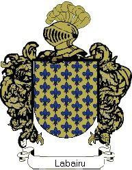 Escudo del apellido Labairu