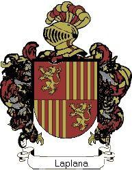 Escudo del apellido Laplana