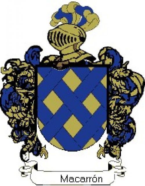 Escudo del apellido Macarrón