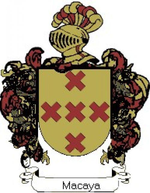 Escudo del apellido Macaya