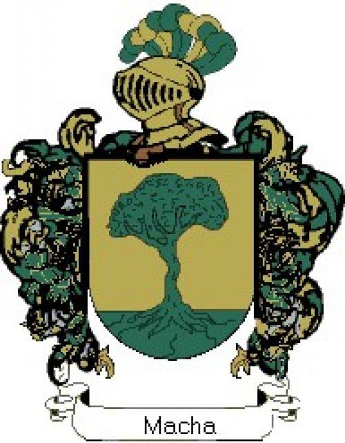 Escudo del apellido Macha