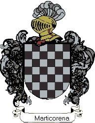 Escudo del apellido Marticorena