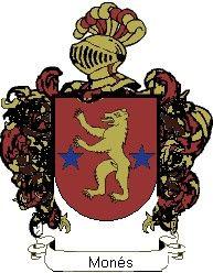 Escudo del apellido Monés