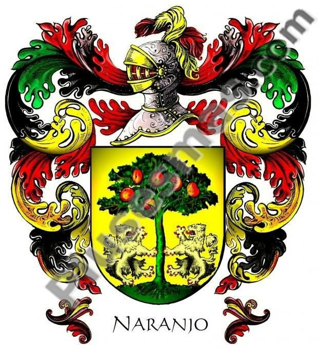 Escudo del apellido Naranjo