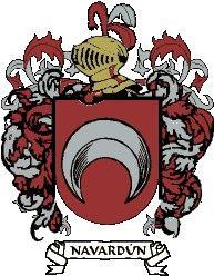 Escudo del apellido Navardún