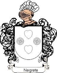 Escudo del apellido Negrete