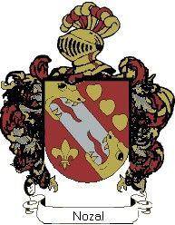 Escudo del apellido Nozal