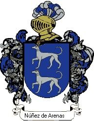Escudo del apellido Núñez de arenas