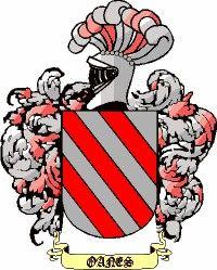 Escudo del apellido Oanes