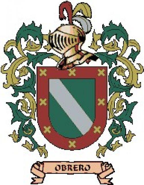 Escudo del apellido Obrero