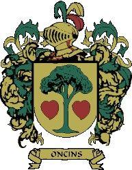 Escudo del apellido Oncins