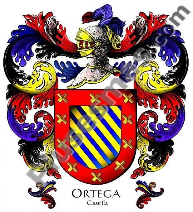 Escudo del apellido ortega for De donde viene el marmol
