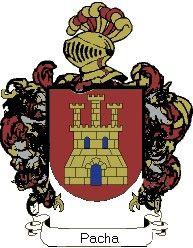 Escudo del apellido Pacha