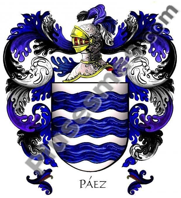Escudo del apellido Páez