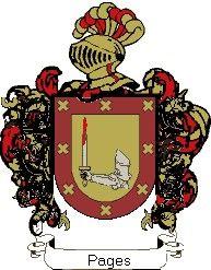 Escudo del apellido Pages
