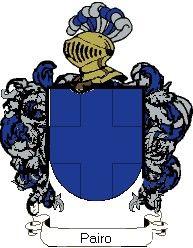 Escudo del apellido Pairo