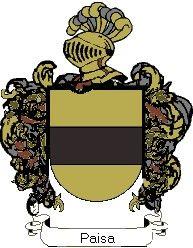 Escudo del apellido Paisa