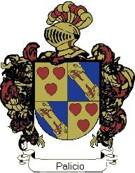 Escudo del apellido Palicio