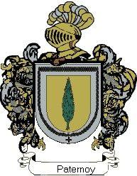Escudo del apellido Paternoy