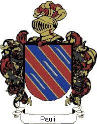 Escudo del apellido Pauli
