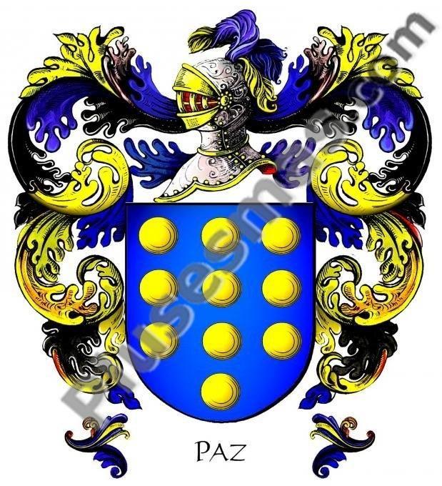 Escudo del apellido Paz
