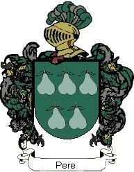 Escudo del apellido Pere