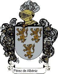 Escudo del apellido Pérez de albéniz