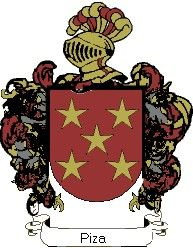 Escudo del apellido Piza