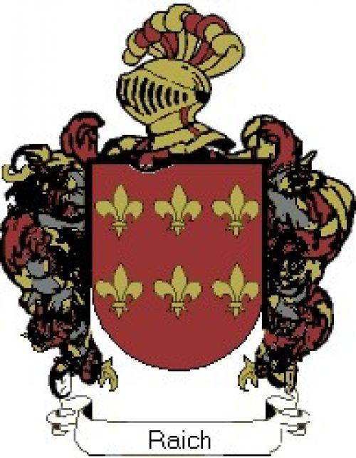 Escudo del apellido Raich