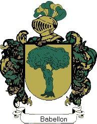 Escudo del apellido Babellon