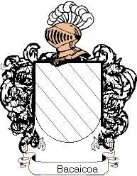 Escudo del apellido Bacaicoa