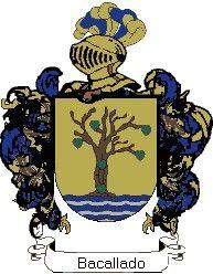 Escudo del apellido Bacallado