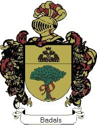 Escudo del apellido Badals