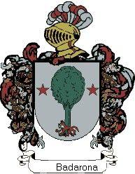 Escudo del apellido Badarona