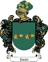 Escudo del apellido Badin