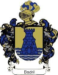 Escudo del apellido Badril
