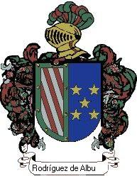 Escudo del apellido Rodríguez de albuerne