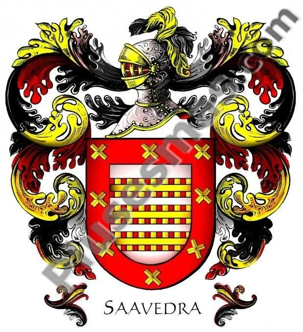 Escudo del apellido Saavedra