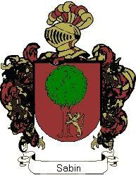 Escudo del apellido Sabin