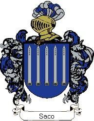 Escudo del apellido Saco
