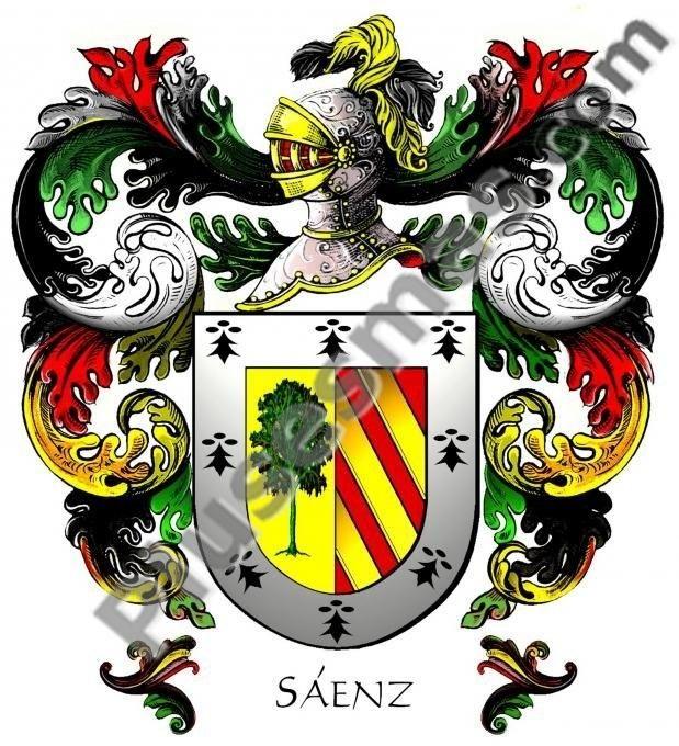 Escudo del apellido Sáenz