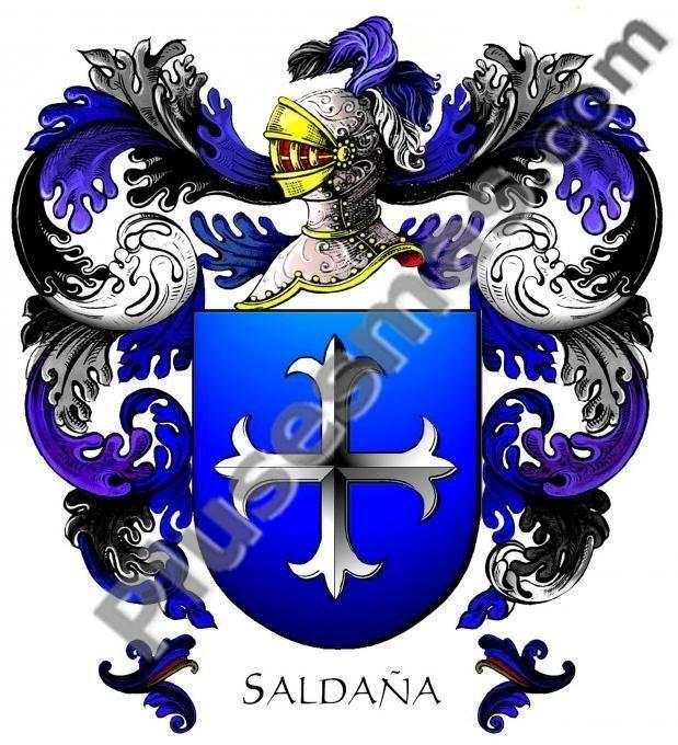 Escudo del apellido Saldaña