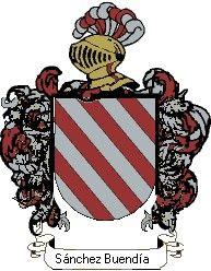 Escudo del apellido Sánchez buendía