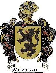 Escudo del apellido Sánchez de alfaro
