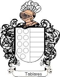 Escudo del apellido Tablares